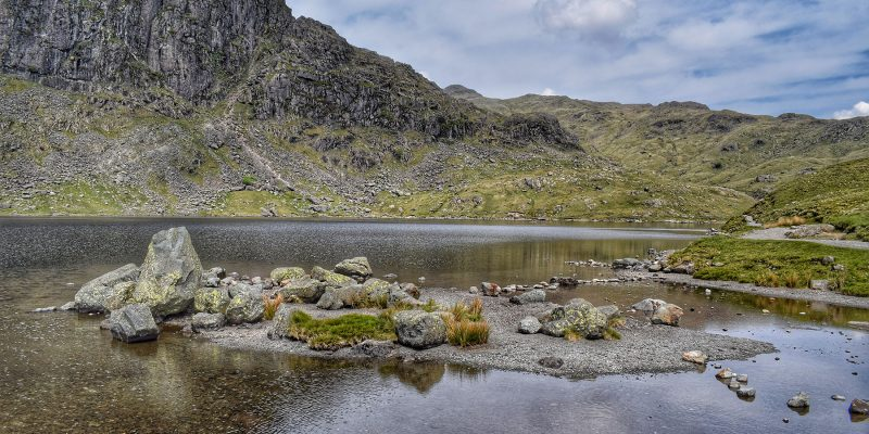 Wild swimming in the Lake District's Stickle Tarn